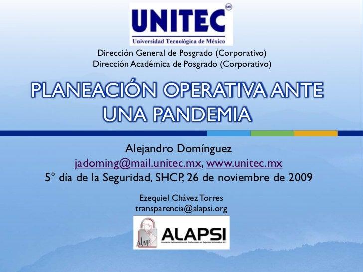 Dirección General de Posgrado (Corporativo)           Dirección Académica de Posgrado (Corporativo)   PLANEACIÓN OPERATIVA...