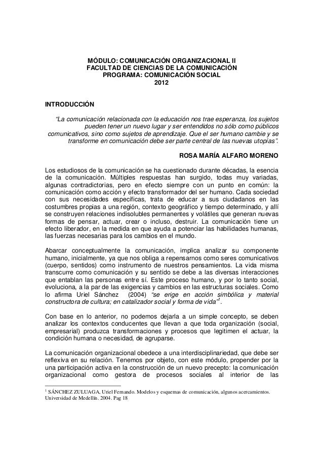 MÓDULO: COMUNICACIÓN ORGANIZACIONAL II FACULTAD DE CIENCIAS DE LA COMUNICACIÓN PROGRAMA: COMUNICACIÓN SOCIAL 2012 INTRODUC...