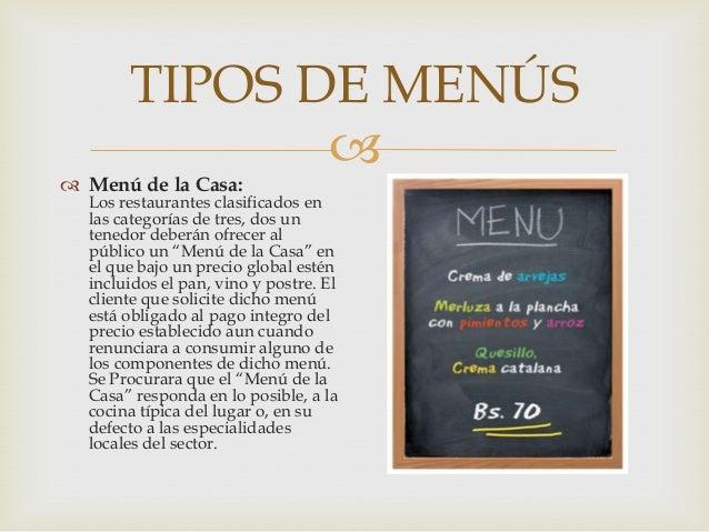 Concriteriopropio2016 tipos de men s for Tipos de restaurantes franceses