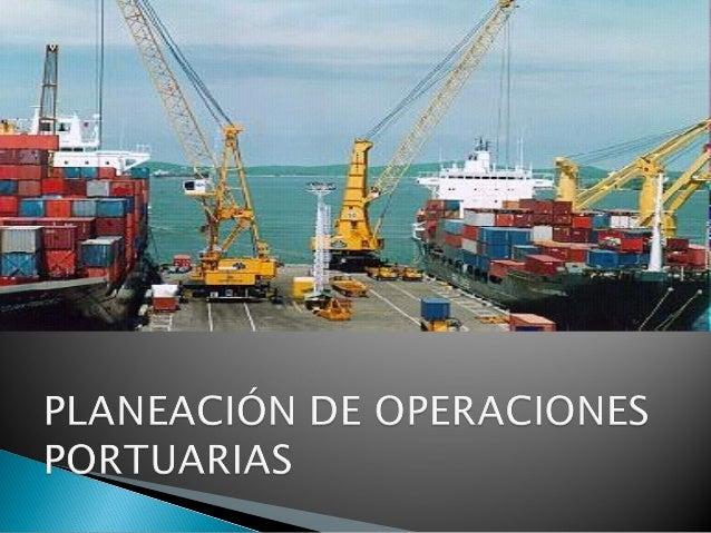 Planeacion portuaria