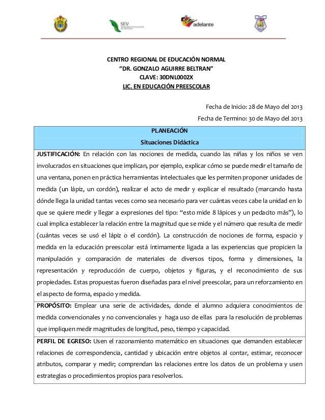 """CENTRO REGIONAL DE EDUCACIÓN NORMAL""""DR. GONZALO AGUIRRE BELTRAN""""CLAVE: 30DNL0002XLIC. EN EDUCACIÓN PREESCOLARFecha de Inic..."""