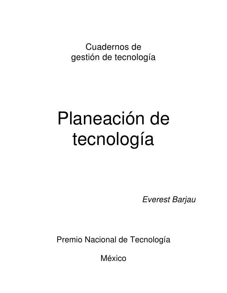 Planeacion Tecnologica