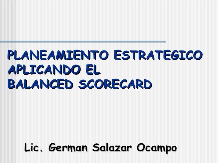 Planeamiento Estratégico con BSC
