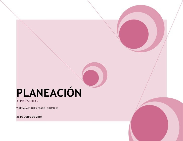 Planecion 3° preescolar