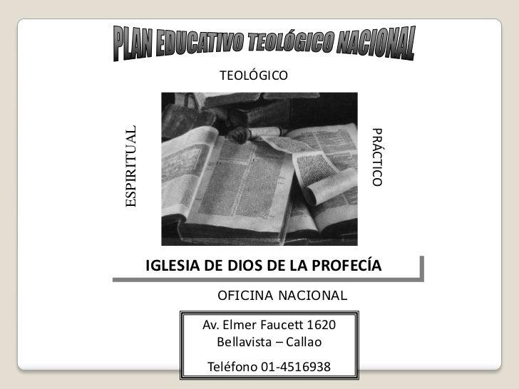 TEOLÓGICOESPIRITUAL                                             PRÁCTICO             IGLESIA DE DIOS DE LA PROFECÍA       ...