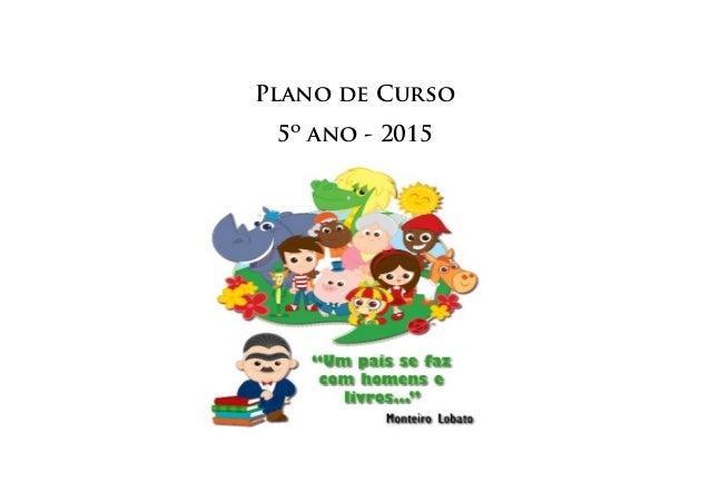 Plano de Curso 5º ano - 2015