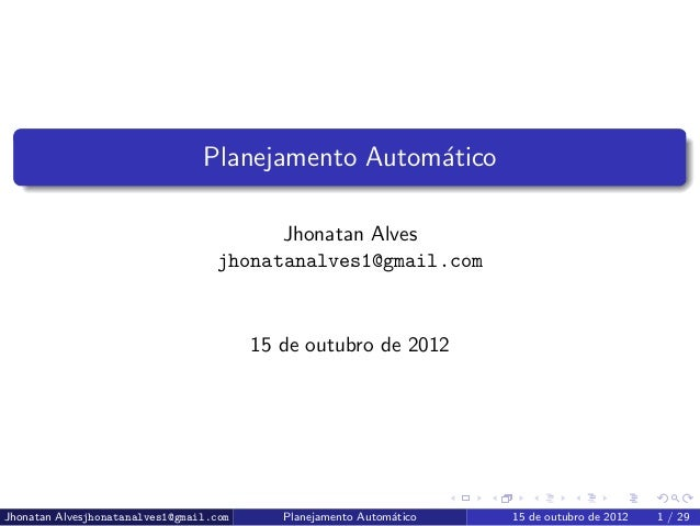 Planejamento Automático