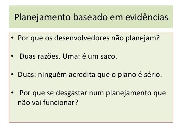 Planejamento baseado em evidências