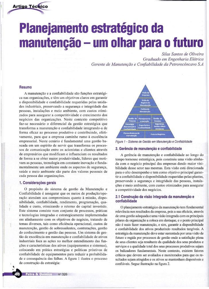 Planejamento estratégico da manutenção - um olhar para o futuro                                                           ...