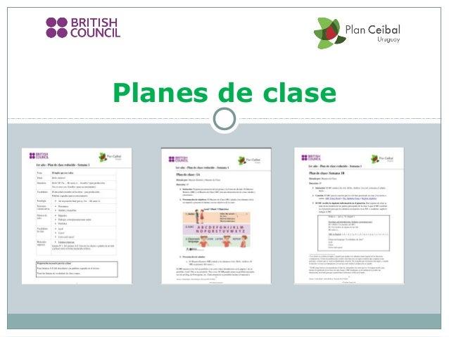 Ceibal en Ingles - Planes de Clase -  enero 2014