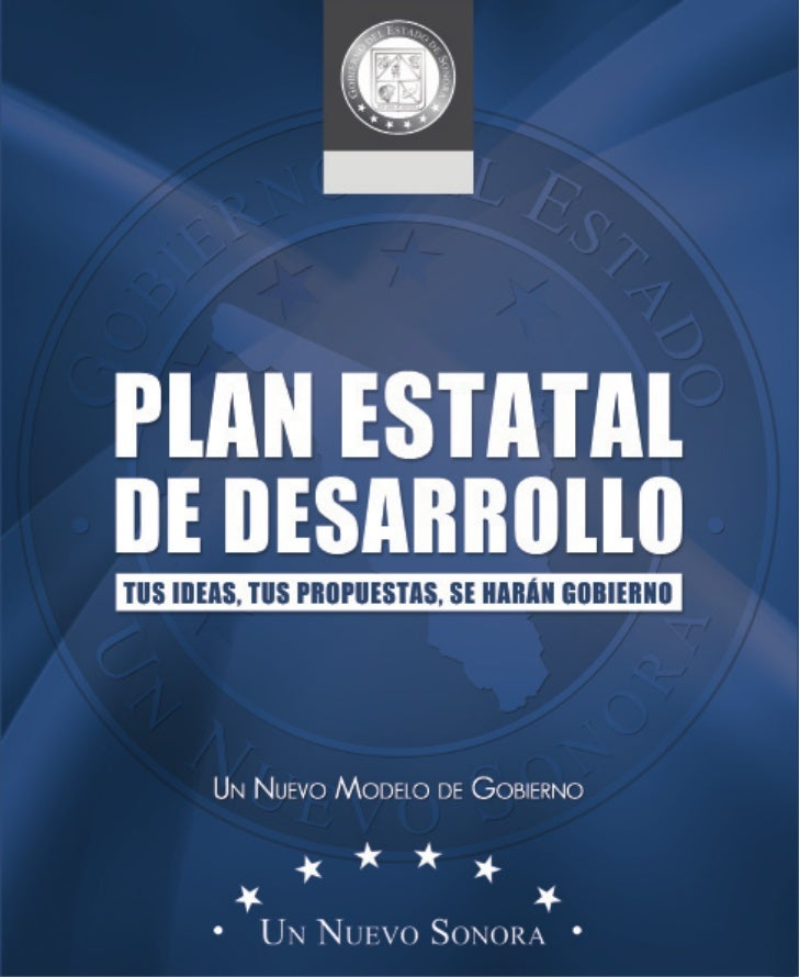 1     Plan Estatal dE dEsarrollo dE sonora