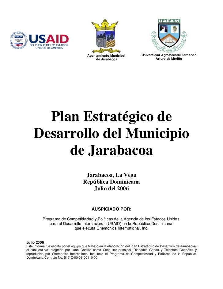 Ayuntamiento Municipal                Universidad Agroforestal Fernando                                              de Ja...