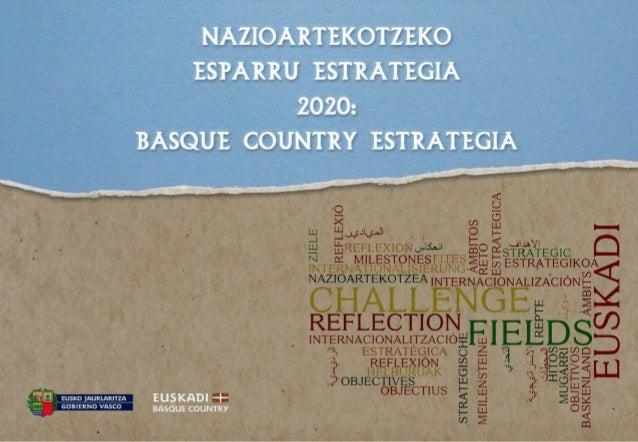 Aurkezpena: Nazioartekotzeko Esparru Estrategia 2020