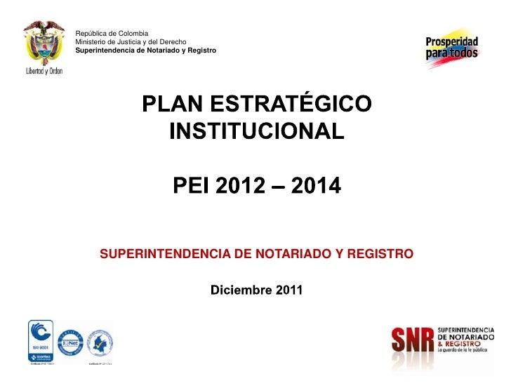 Plan estrategico superintendencia de notariado y registro