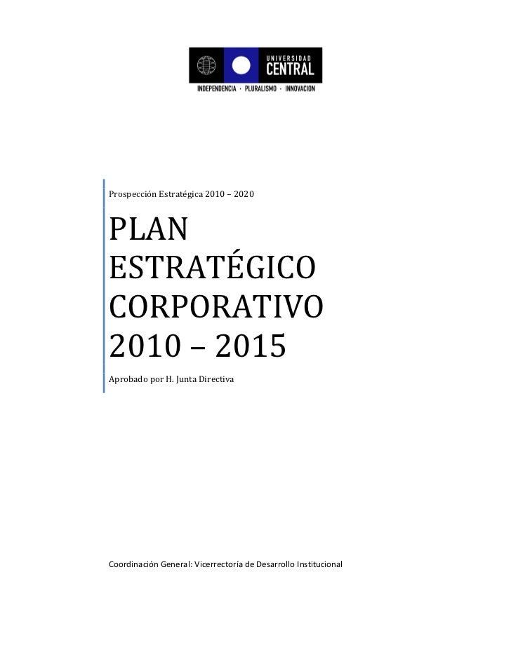 Plan estratégico 2010   2015  (aprobado hjd)