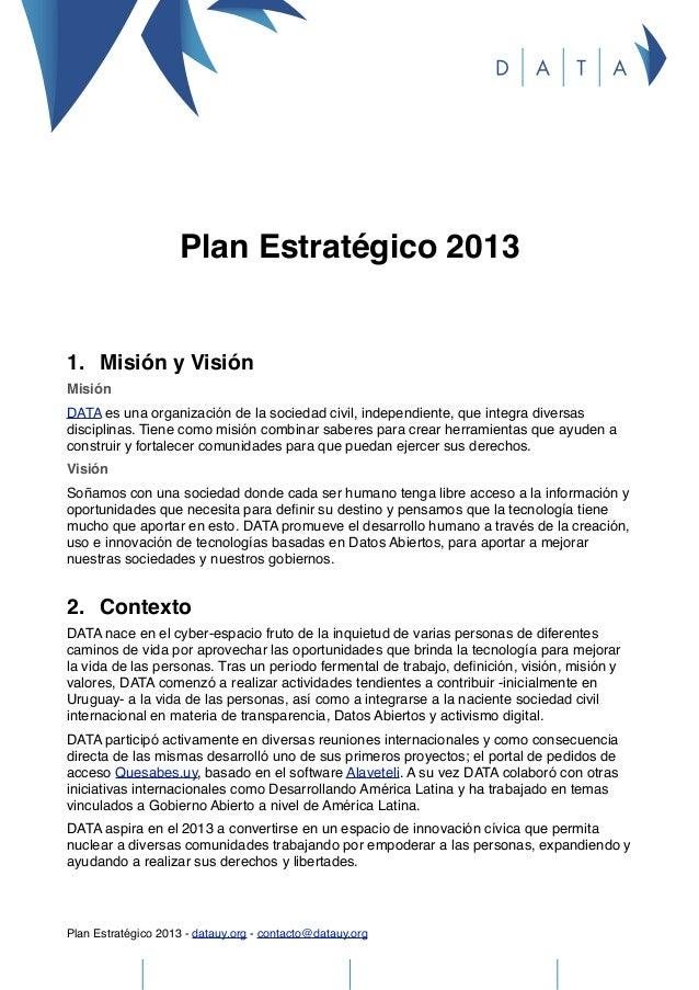 Plan estratégico 2013