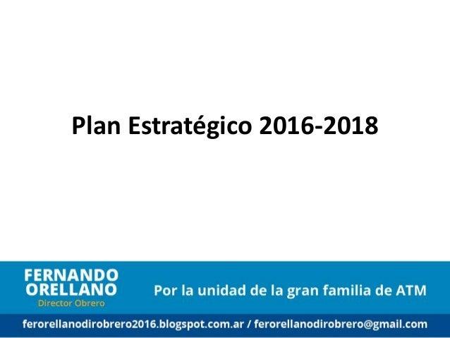 Plan Estratégico 2016-2018