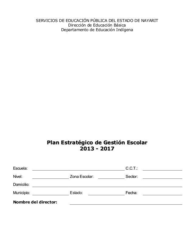 SERVICIOS DE EDUCACIÓN PÚBLICA DEL ESTADO DE NAYARIT Dirección de Educación Básica Departamento de Educación Indígena Plan...