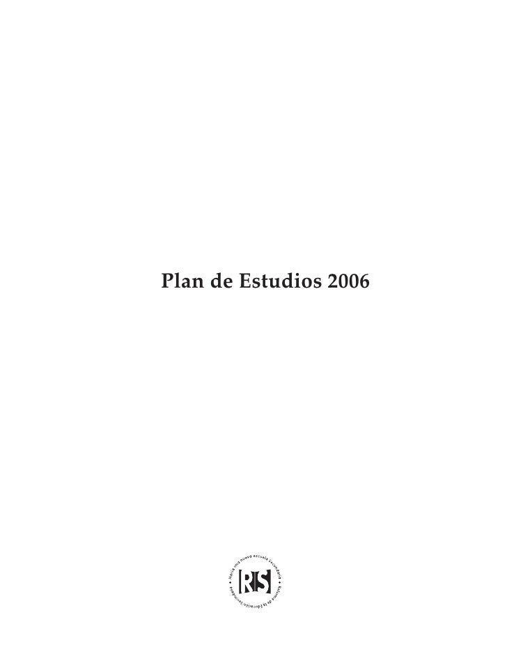 plan de estudios 2006 educacion secundaria