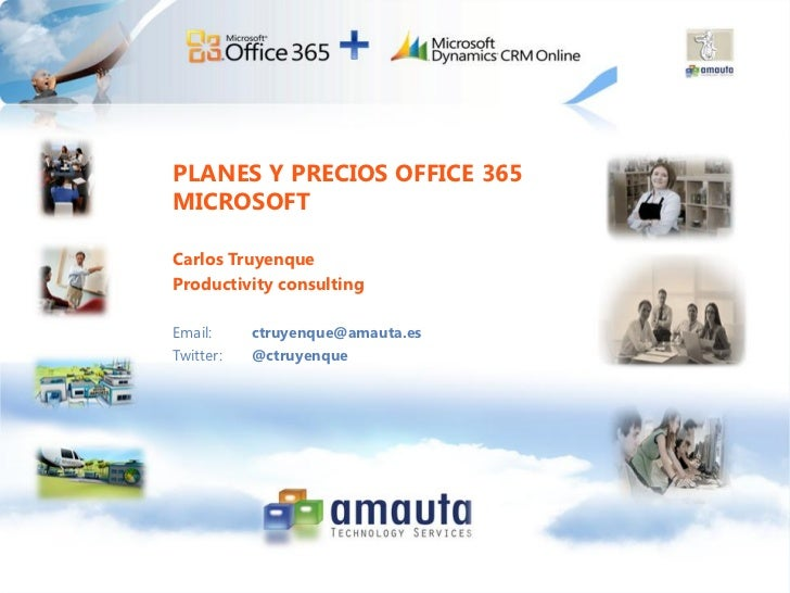 Planes y precios Office 365