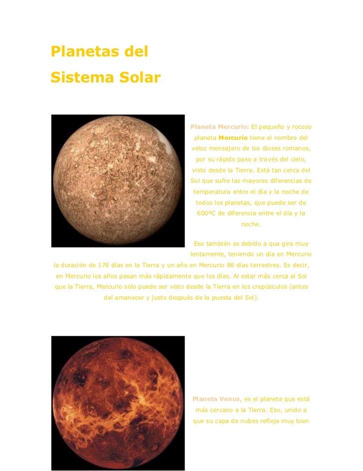 "HYPERLINK ""http://www.portalplanetasedna.com.ar/astronomia.htm"" Planetas del Sistema Solar<br />left0Planeta Mercurio: El..."