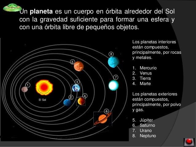 cuales son los 7 planetas del sistema solar