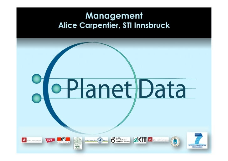 PlanetData Management Overview