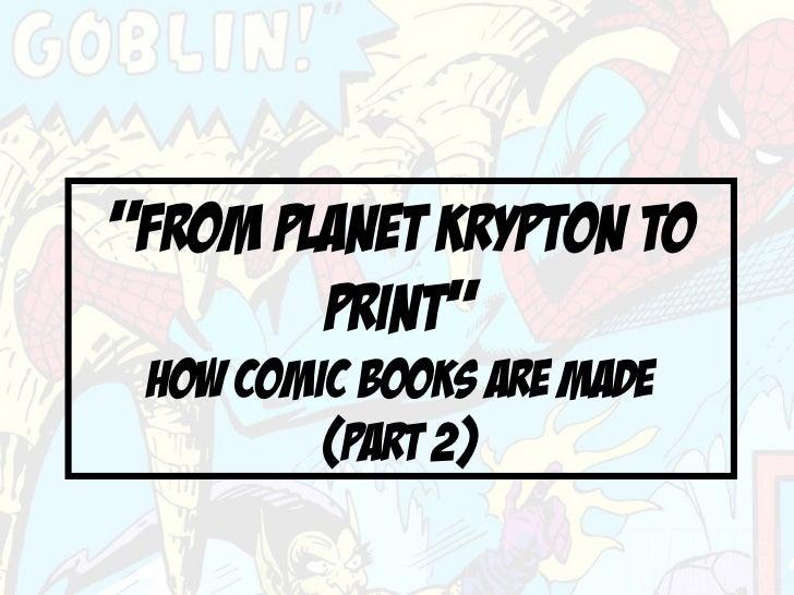 Planet krypton to print 2