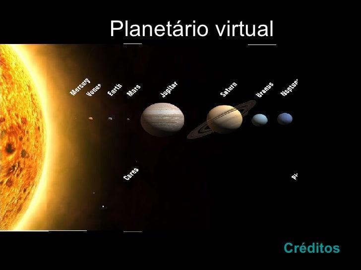 Planetário virtual Créditos