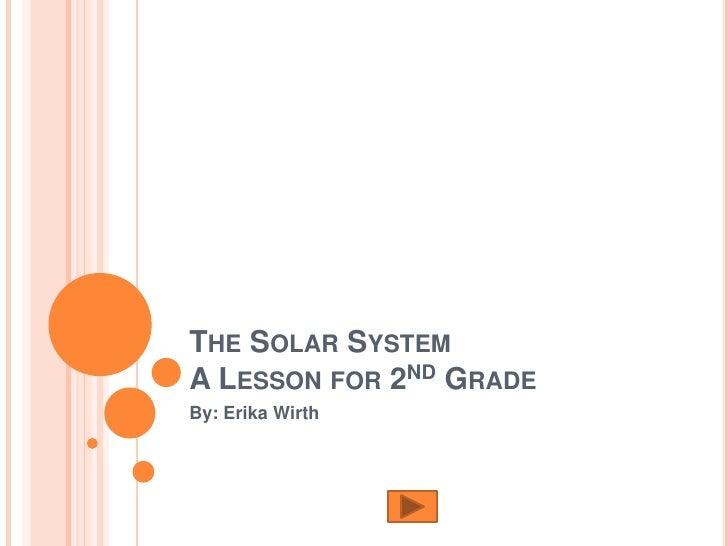 THE SOLAR SYSTEM A LESSON FOR 2ND GRADE By: Erika Wirth