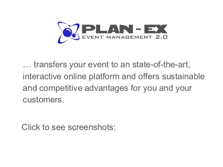 <ul><li>…  transfers your event to an state-of-the-art, interactive online platform and offers sustainable and competitive...