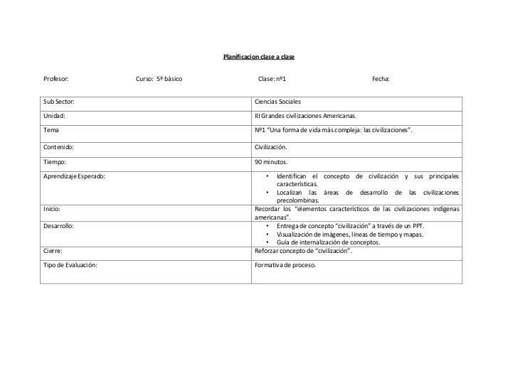 Planificacion clase a claseProfesor:               Curso: 5º bàsico                Clase: nº1                             ...