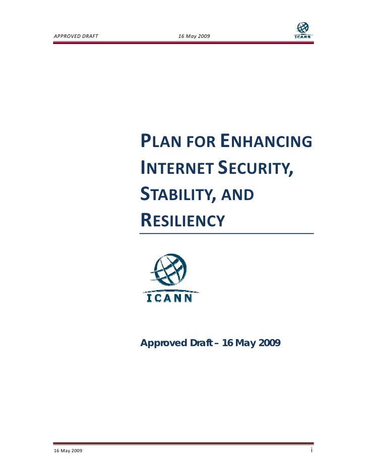 Plan For Enhancing Internet Security