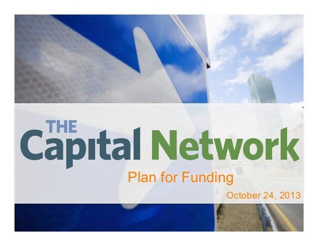 Plan for Funding October 24, 2013 1