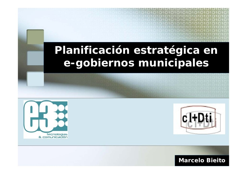 Planificación estratégica del e-gov municipal