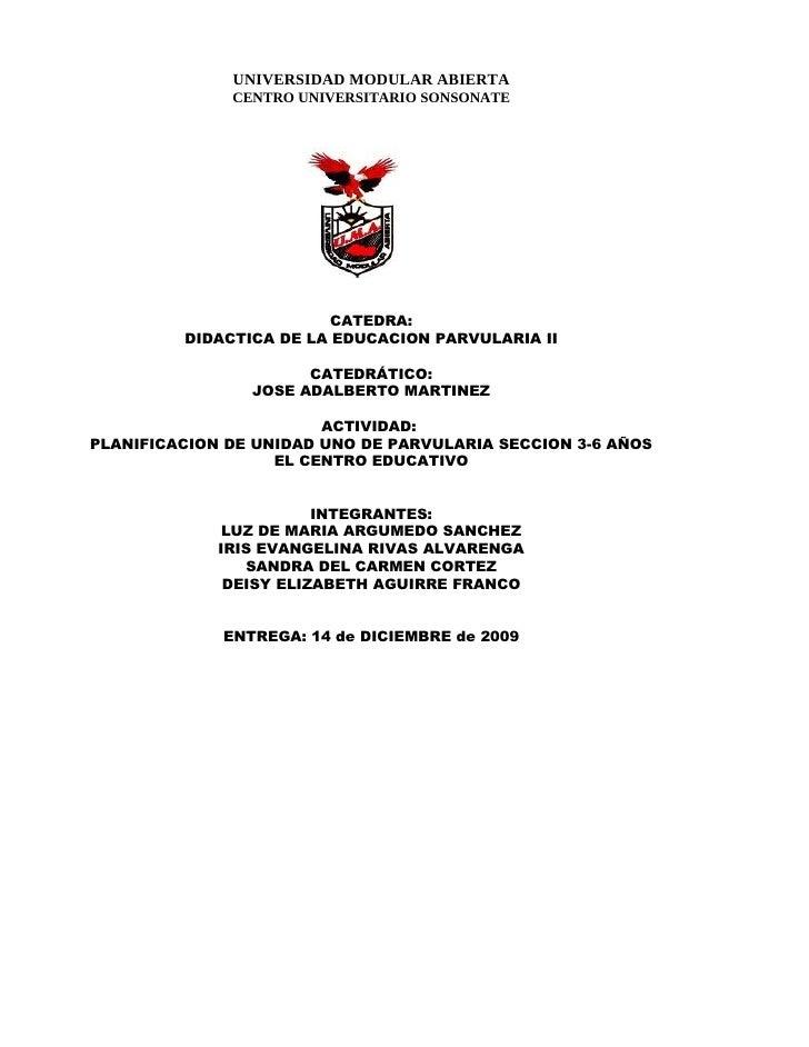Planifiacion EducacióN Parvularia Unidad Iris Cata