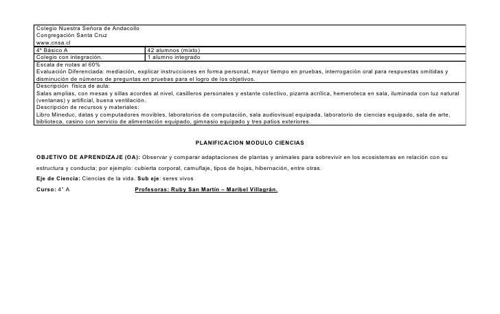 Colegio Nuestra Señora de AndacolloCongregación Santa Cruzwww.cnsa.cl4º Básico A                                 42 alumno...