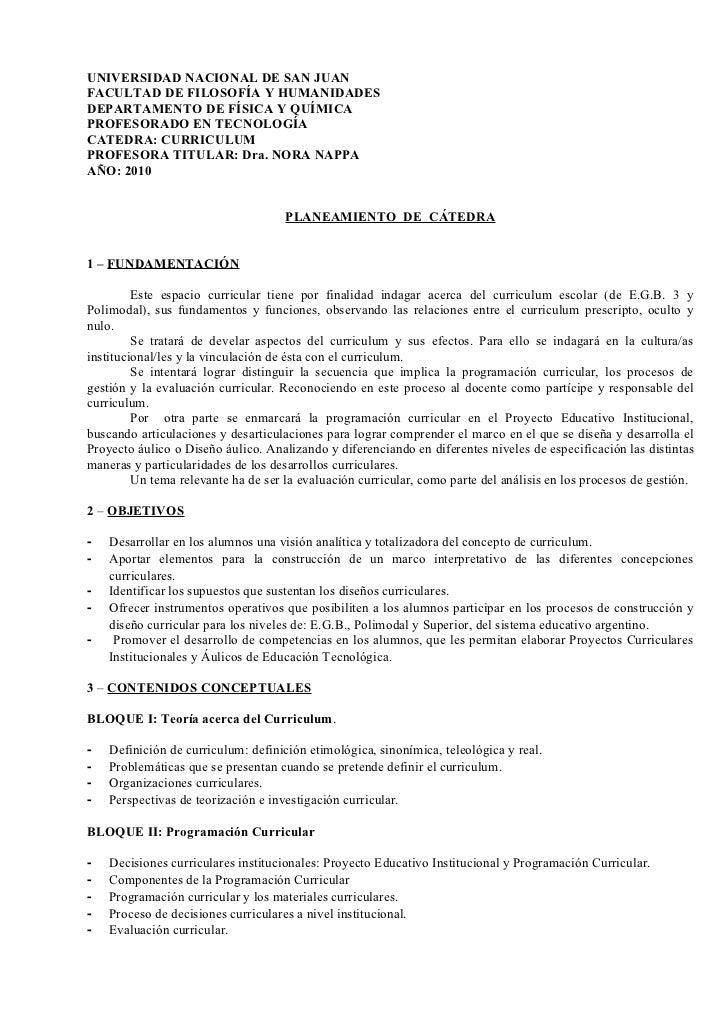 UNIVERSIDAD NACIONAL DE SAN JUANFACULTAD DE FILOSOFÍA Y HUMANIDADESDEPARTAMENTO DE FÍSICA Y QUÍMICAPROFESORADO EN TECNOLOG...