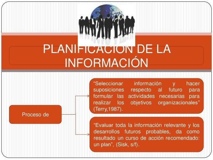 """PLANIFICACIÓN DE LA          INFORMACIÓN              """"Seleccionar   información    y    hacer              suposiciones r..."""
