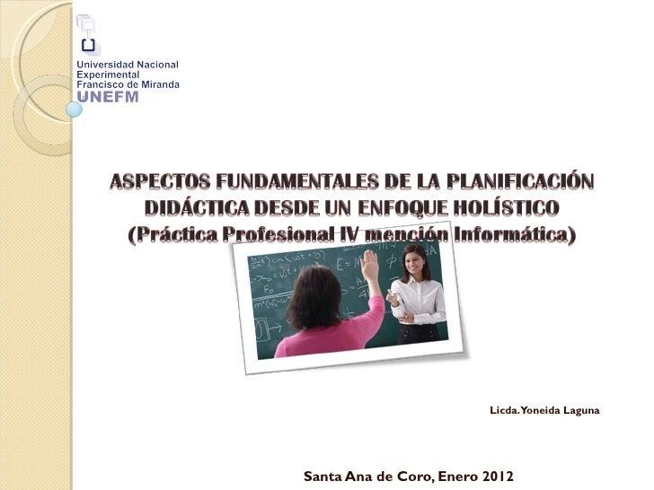 Planificación instruccional desde un enfoque holístico