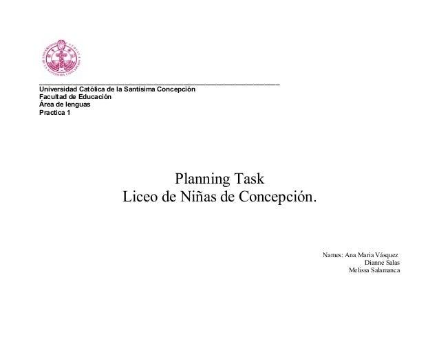 Planificación (planing task)