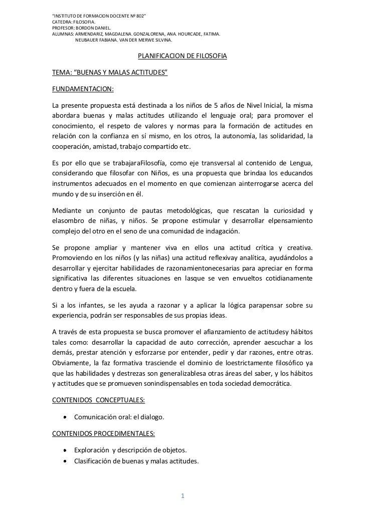 """INSTITUTO DE FORMACION DOCENTE Nº 802""CATEDRA: FILOSOFIA.PROFESOR: BORDON DANIEL.ALUMNAS: ARMENDARIZ, MAGDALENA. GONZALOR..."