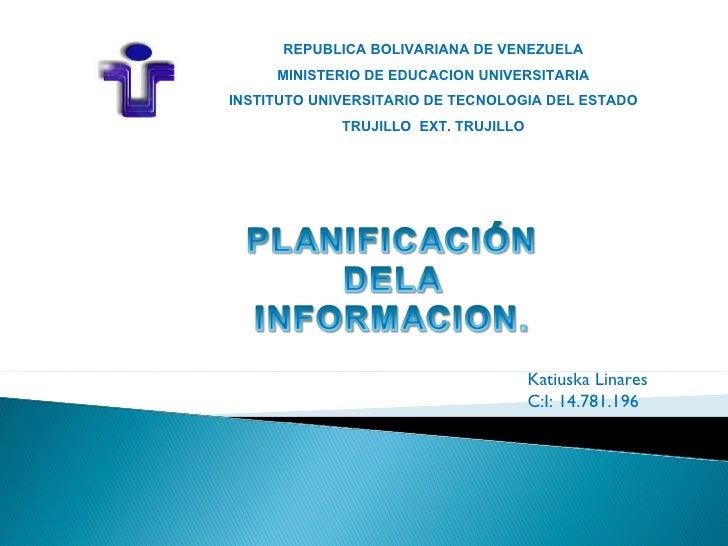Planificacion de la informacion