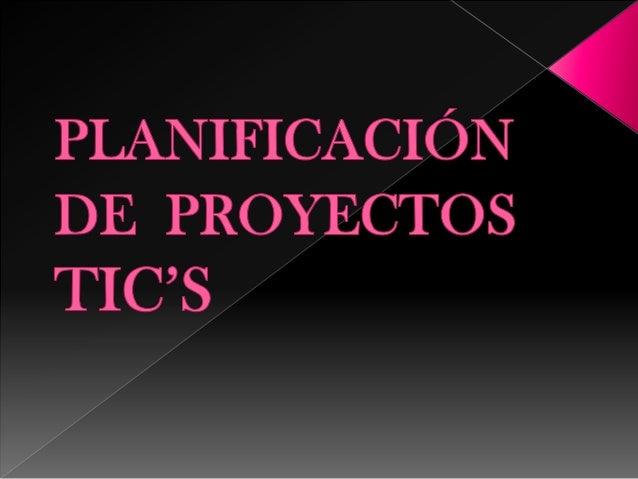 Planificacion de poyectos