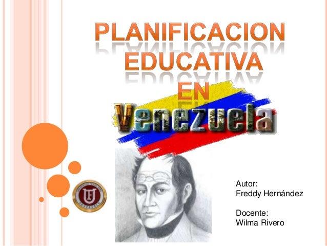 Planificacion educativa en venezuela