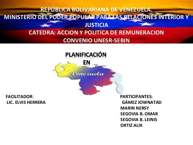 REPÚBLICA BOLIVARIANADE VENEZUELA.             REPÚBLICA BOLIVARIANA DE VENEZUELA.      MINISTERIO DEL PODER POPULAR PARA ...