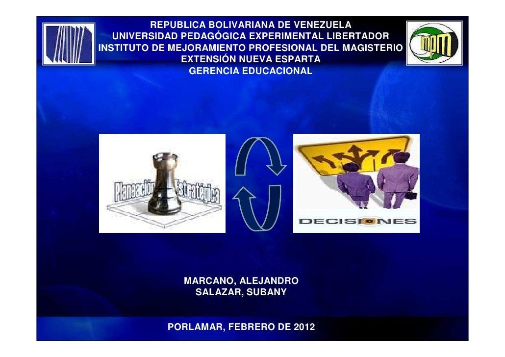 REPUBLICA BOLIVARIANA DE VENEZUELA   UNIVERSIDAD PEDAGÓGICA EXPERIMENTAL LIBERTADORINSTITUTO DE MEJORAMIENTO PROFESIONAL D...