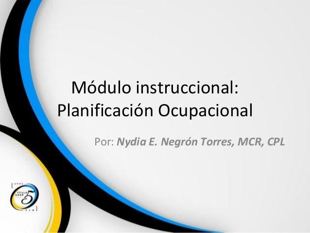 Planificacion Ocupacional