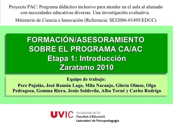 Planificacion sesiones Seminario B06