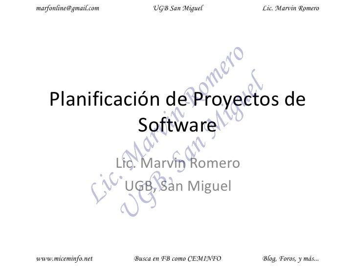 Planificacion y gestion de proyectos primera parte